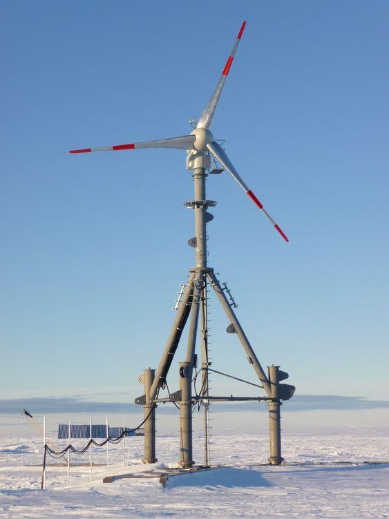 Anbefalt vindmølle på Troll i Antarktis.