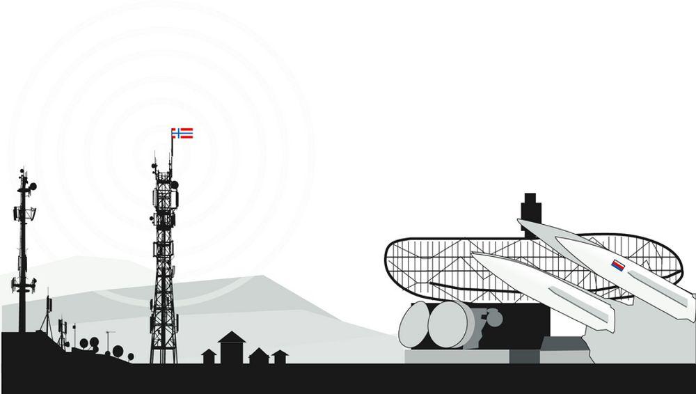 DOMINERER: Dagens regler gir de russiske radarsystemene forkjørsrett i frekvensbåndet som skal brukes til høyhastighets mobilt bredbånd på vår side av grensen.