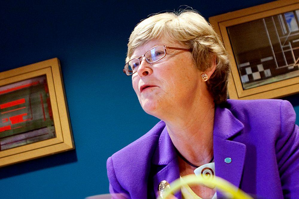 FÅR NY TILLIT: Tekna-president Marianne Harg er villig til å gyve løs på to nye år i sjefsstolen.