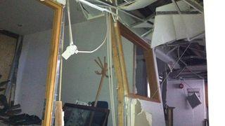 BILDESERIE: Ødeleggelser i regjeringskvartalet