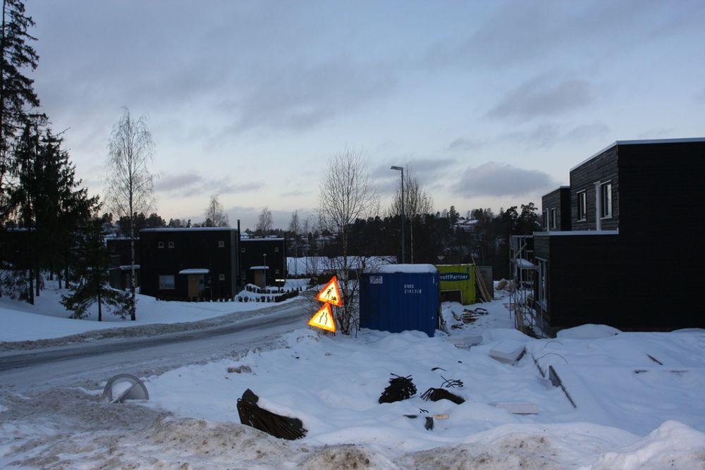 KAN, KAN IKKE: Det er strid i byggenæringen om passivhus, her fra et felt på Mortensrud i Oslo. EBA har nå satt ned et utvalg som skal meisle ut en politikk ikke bare for passivhus men hele miljø, klima og energipolitikken.