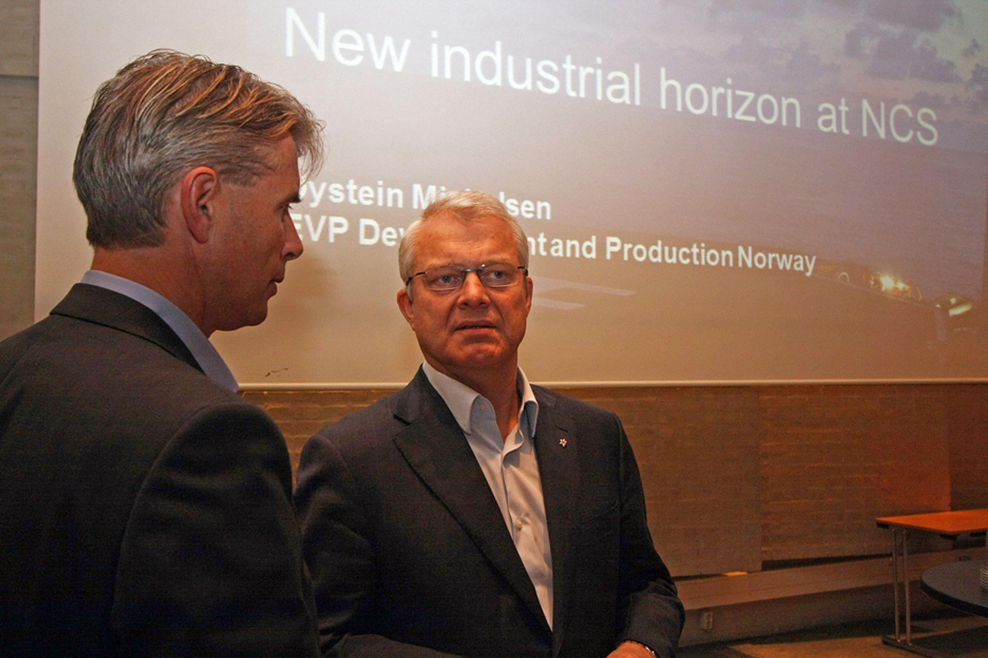GODT SKODD: Konserndirektør Øystein Michelsen sier Statoil har ressurser og kapasitet til å gjøre alt som trengs på norsk sokkel.