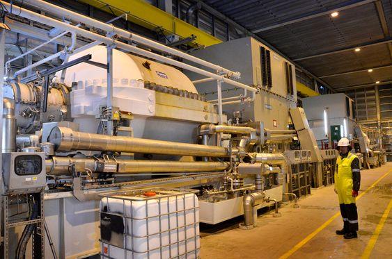 65 MW: Fire store kompressorer driver kjøleanlegget på Melkøya. I løpet av de fire første årene har Statoil hatt feil ved motorene fra Siemens og kompressorene fra GE Nouvo Pignone.