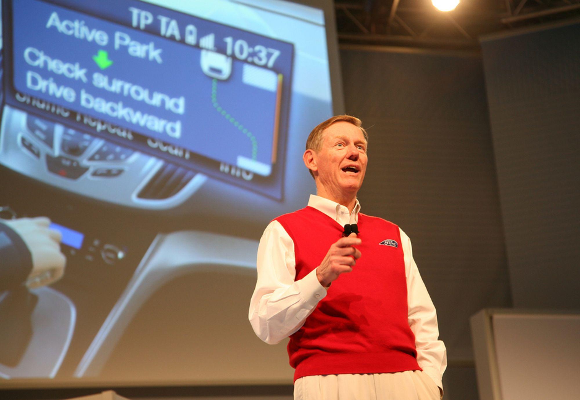 CeBIT: En elektronisk parkeringsassistent er blant det andre Ford-sjef Alan Mulally skryter av om dagen.