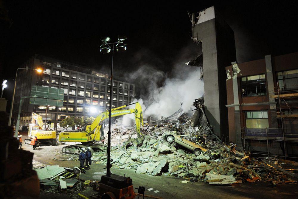 IKKE SKJELVSIKKERT: Canterbury Television sitt hovedkvarter kollapset av jordskjelvet som rammet byen hardt 22. februar. Bygget skulle være skjelvsikkert.