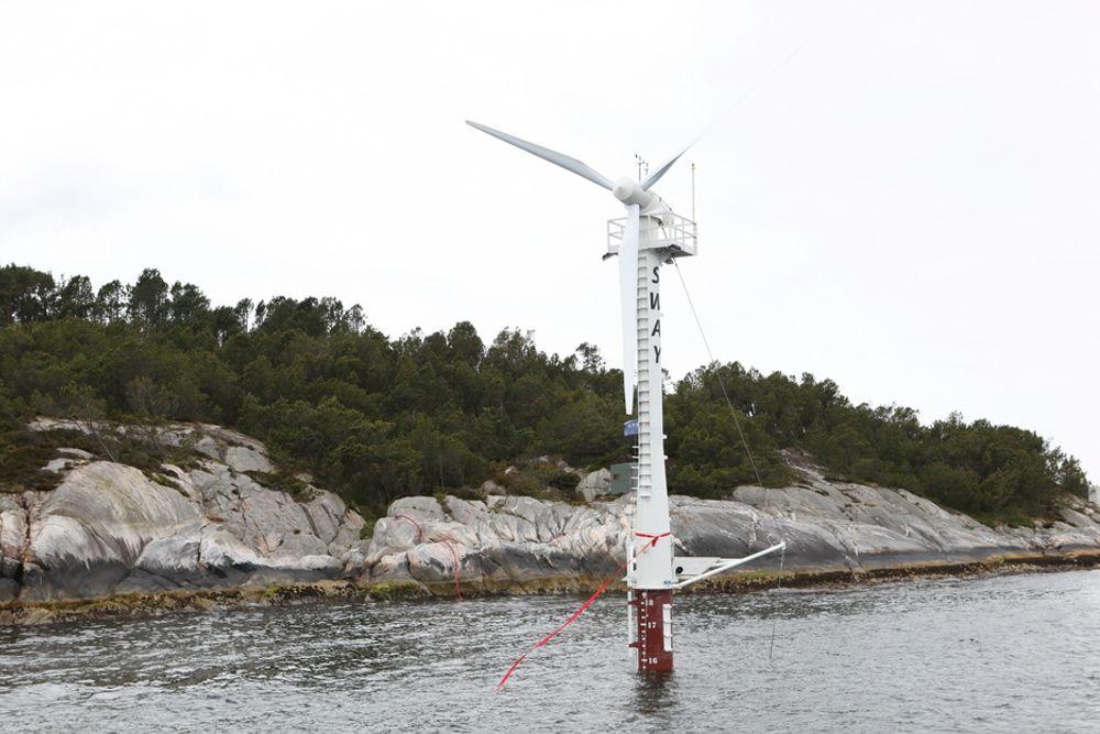Sways vindturbin har stort potensial på dypt vann i California.