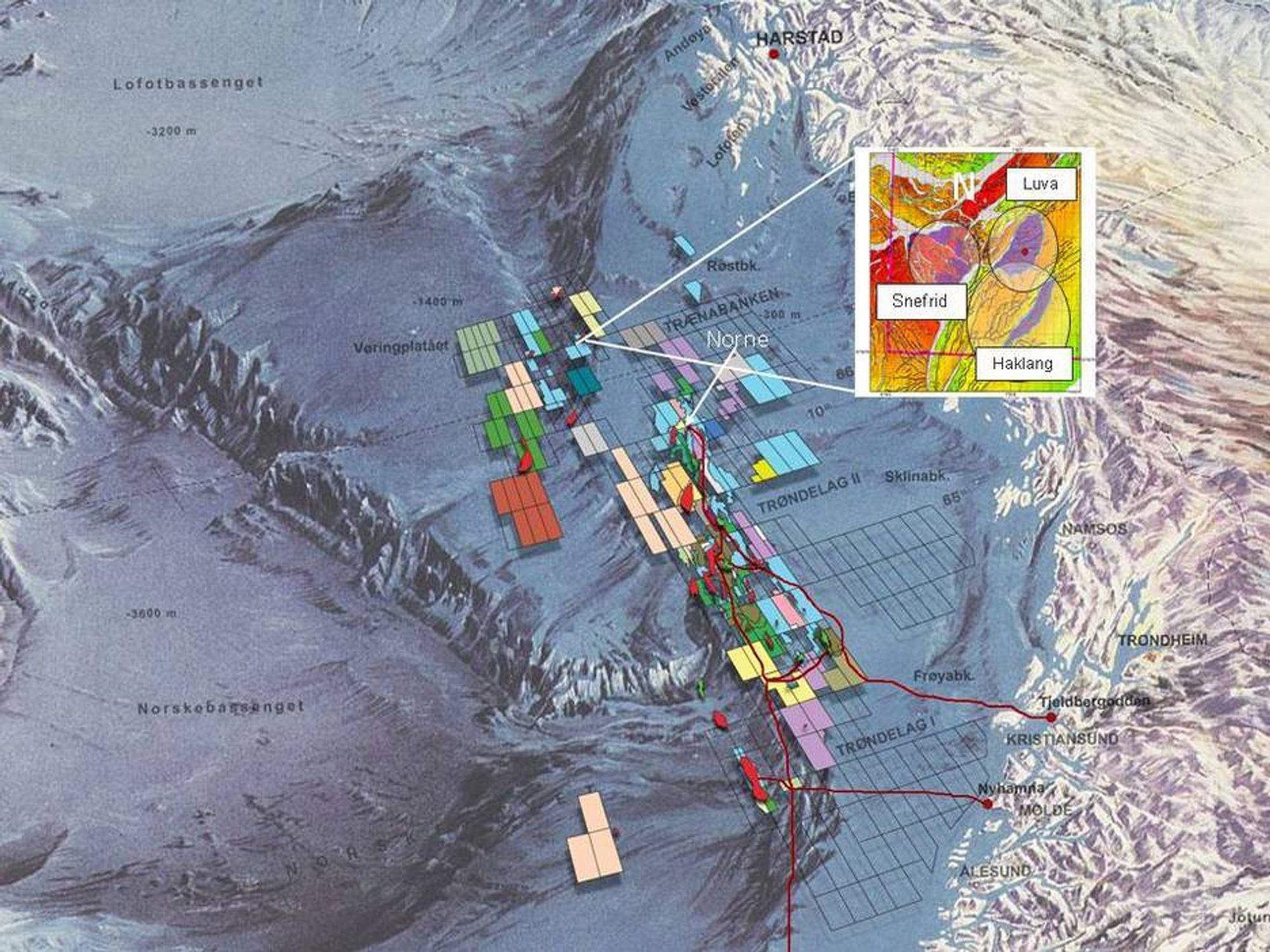 LANGT UT: Luva blir det feltet som ligger lengst fra land på norsk sokkel.