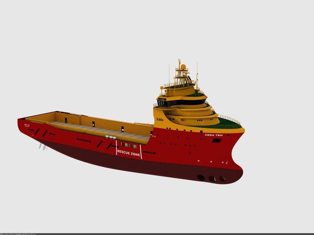 Bygger miljøvennlige supply-skip