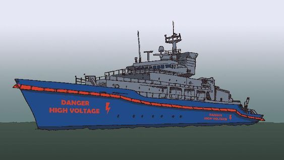 Elektrisk gjerde rundt skipet skal stanse pirater. Forslaget er ikke ferdig utredet som konsept. For oljetankskip, gass- og kjemikalieskip er damp mer sannsynlig ettersom eksplosjonsfare hindrer brulk av strøm og annet som kan lage gnister.