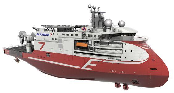 TUNGVEKTER: Det nye konstrukjsonsskipet til Eidesvik Offshore og Subsea 7 er spesialtilpasset oppdrag for Statoil. Skipet er designet og skal bygges av Ulsteinkonsernet. Fartøyet blir 106,5 meter langt og 24,5 meter bredt. Det får toppfart 17 knop og skal ha lugarplass til 90 personer