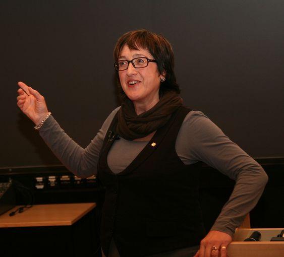 Fra MNT-konferansen i Tromsø. mars 2011. Tema: Realfagenes samfunnsrelevans. Her Edel Storelvmo, direktør i næringsutviklingsselskapet Futurum i Narvik.