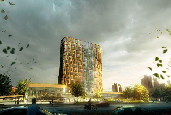 Panum-bygningen. Nørre Campus, København.
