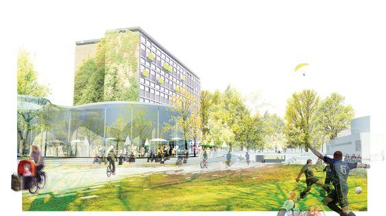Nørre Allé, Nørre Campus, København.