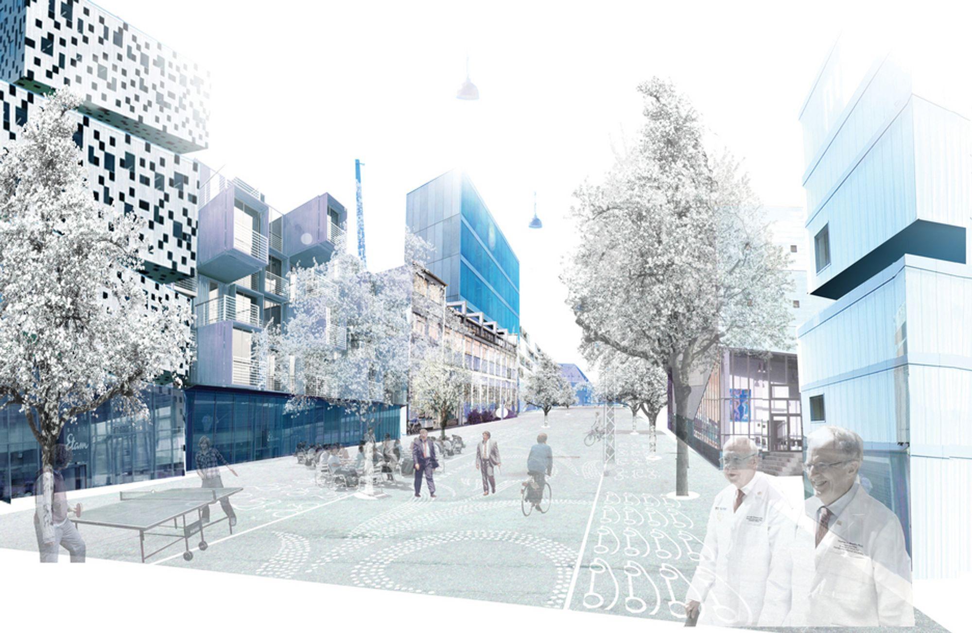 LUFTIG: Sigurdsgate, en av gatene i bydelen, skal bygges ut til et eget gründerstrøk.