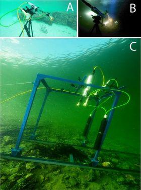 Undervanns hyperspektral avbilder testet på skinne.