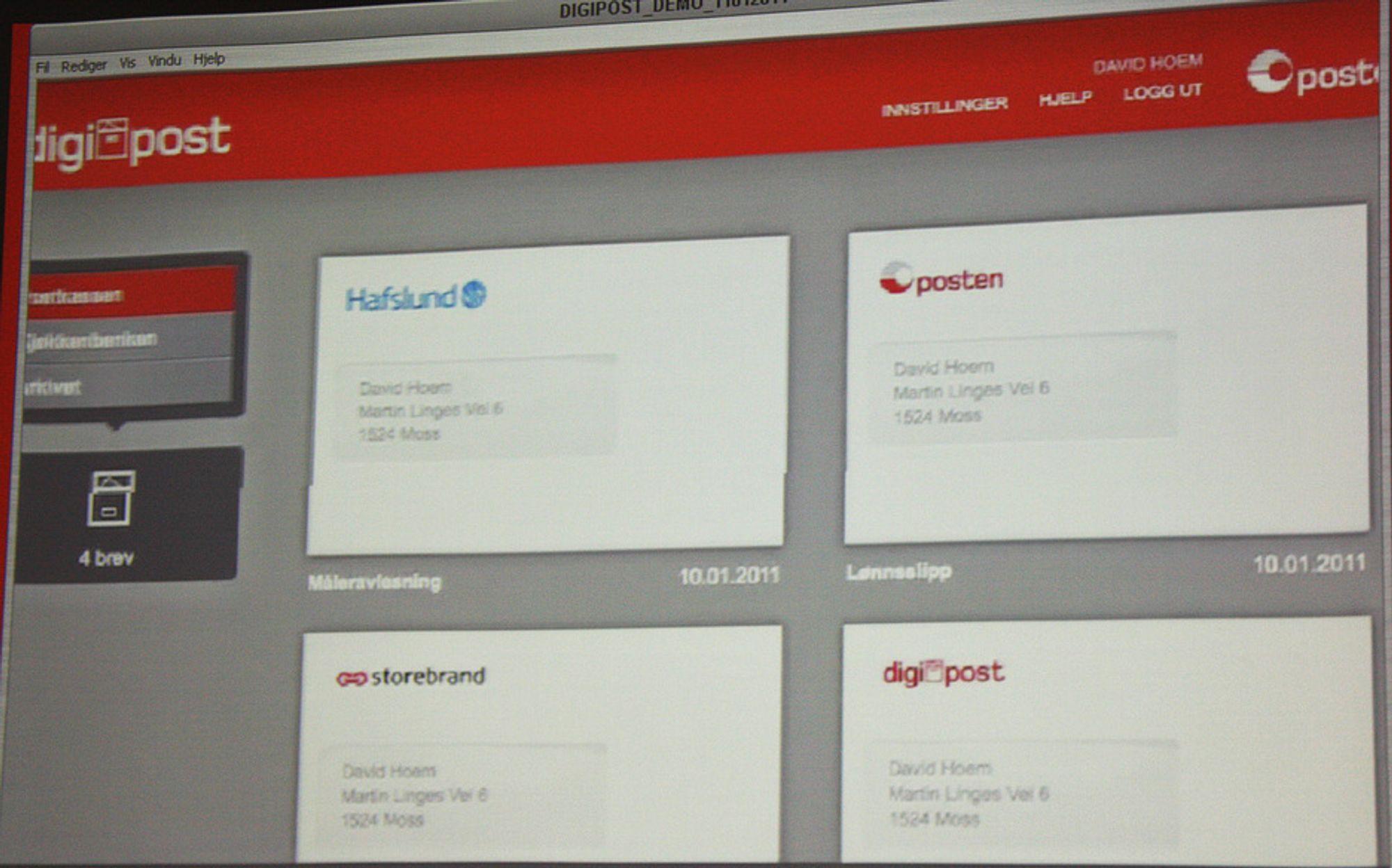 Postens digitale postkasse har 100.000 brukere. Målet er én million.