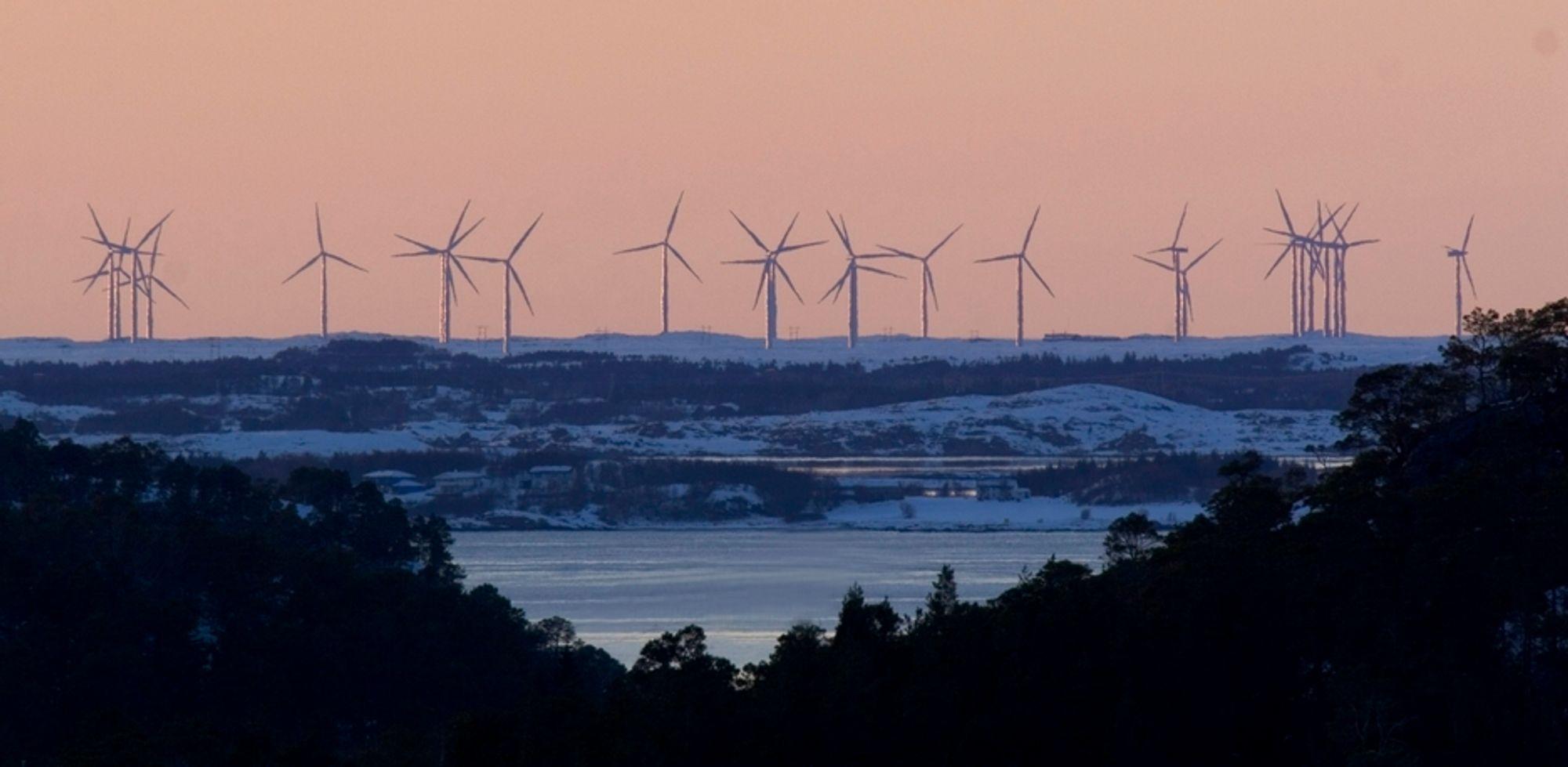 POSITIVT: Vindmøller i Smøla kommune. Der vindturbinene er på plass er folk ofte mer positive til vindkraft, viser en undersøkelse gjort for Enova. Men i enkelte kommuner er det sterk polarisering.