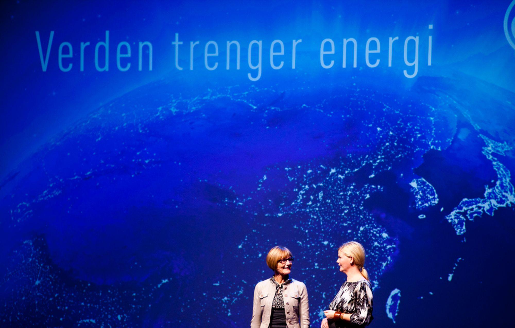 OLF-leder Gro Brækken presenterte næringens muligheter på OLFS årskonferanse.