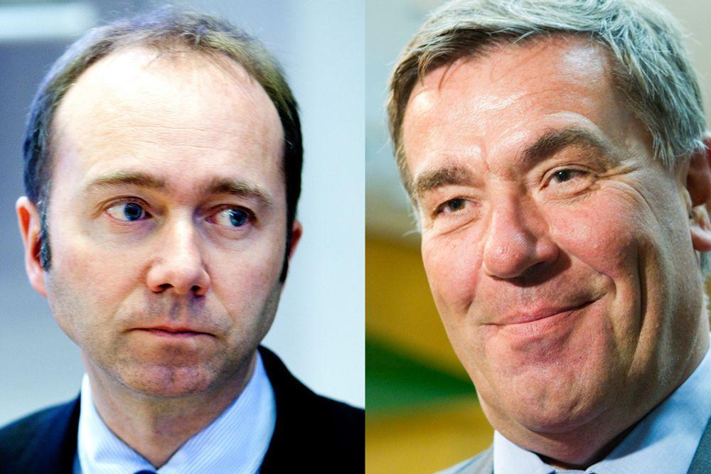 TAUS: Næringsminister Trond Giske og andre politikere er tause vitner til at Stein Erik Hagen slakter Orkla.