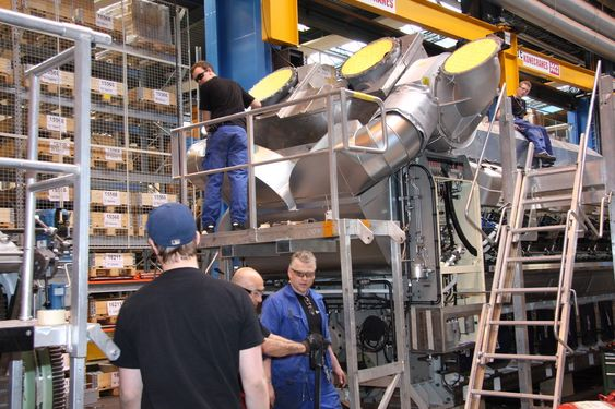 HEKTISK: I dag er det langt roligere på fabrikken til  Rolls-Royce Engines enn midt under bookmen for et par år siden.