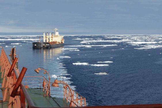 BERØMT: Bulkskipet Nordic Barents ble chartret av Tschudi Shipping i fjor for å frakte 41.000 tonn jernmalm gjennom Nordøstpassasjen.