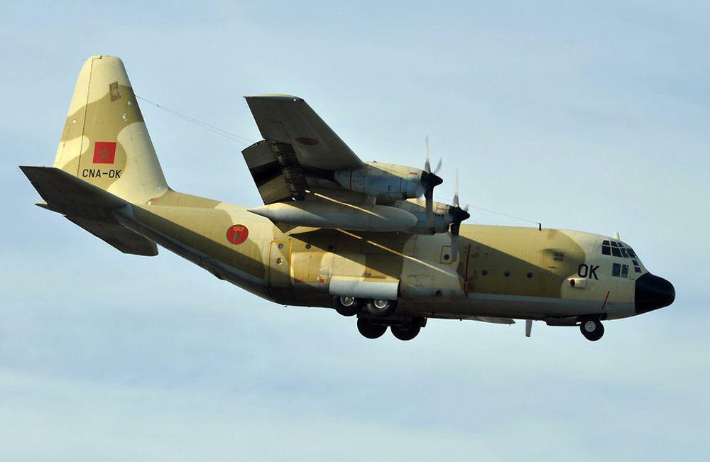 STYRTET: Et marokkansk militærfly av denne typen styrtet inn i en fjellside i tett tåke tirsdag.