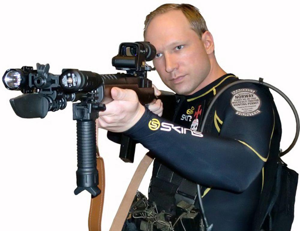 GODT PLANLAGT: Ifølge Anders Behring Breiviks forsvarer, advokat Geir Lippestad, innrømmer den terrorsiktede at angrepene var planlagt over tid. Dette er et av bildene av seg selv Breivik har lagt ved i manifestet.