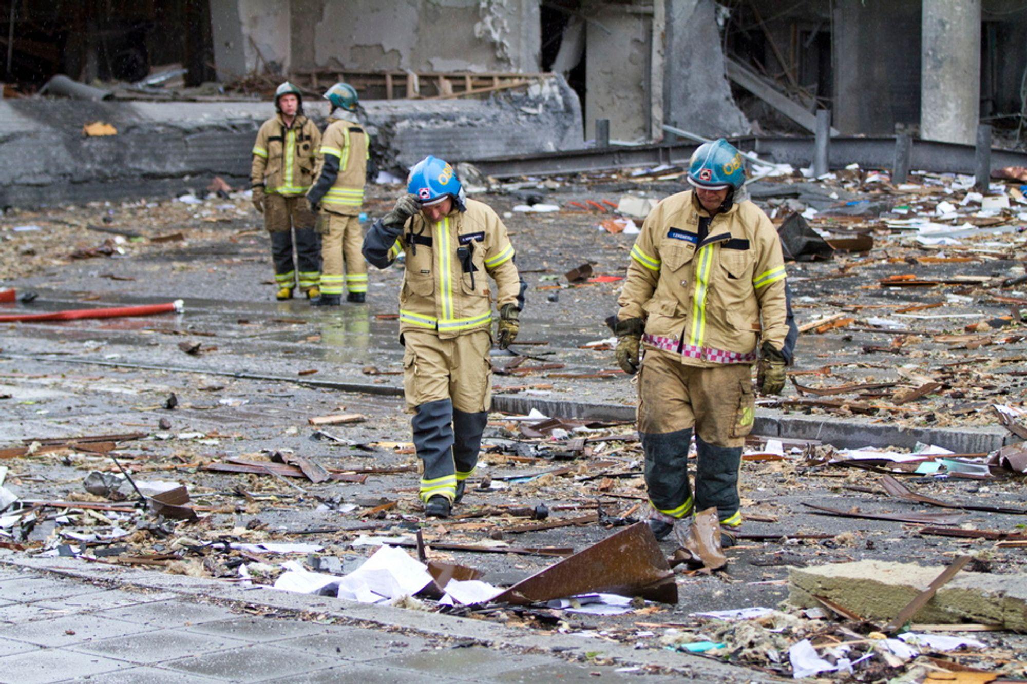 Det var en svært kraftig bombe som sprengte i Regjeringskvartalet.