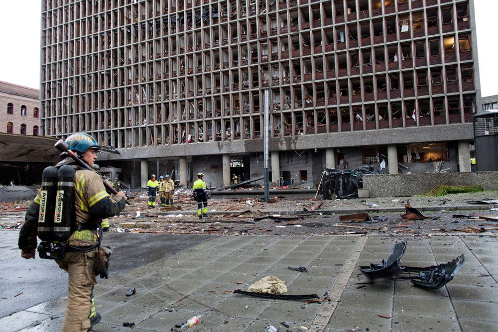 Bomben kan ha bestått av dynamitt, TNT eller en blanding av kunstgjødsel og diesel, ifølge Per Nergaard i Norsk Folkehjelp.