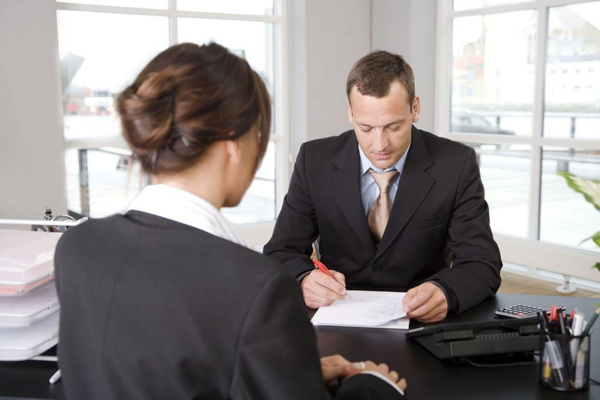 RÅD: Tar intervjueren notater? Det er et godt tegn.
