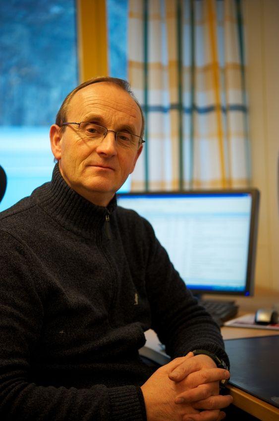 Fabrikksjef Trygve B. Svendsen. Bilde frå Morten Guldens tur til anlegget i desember 2010.