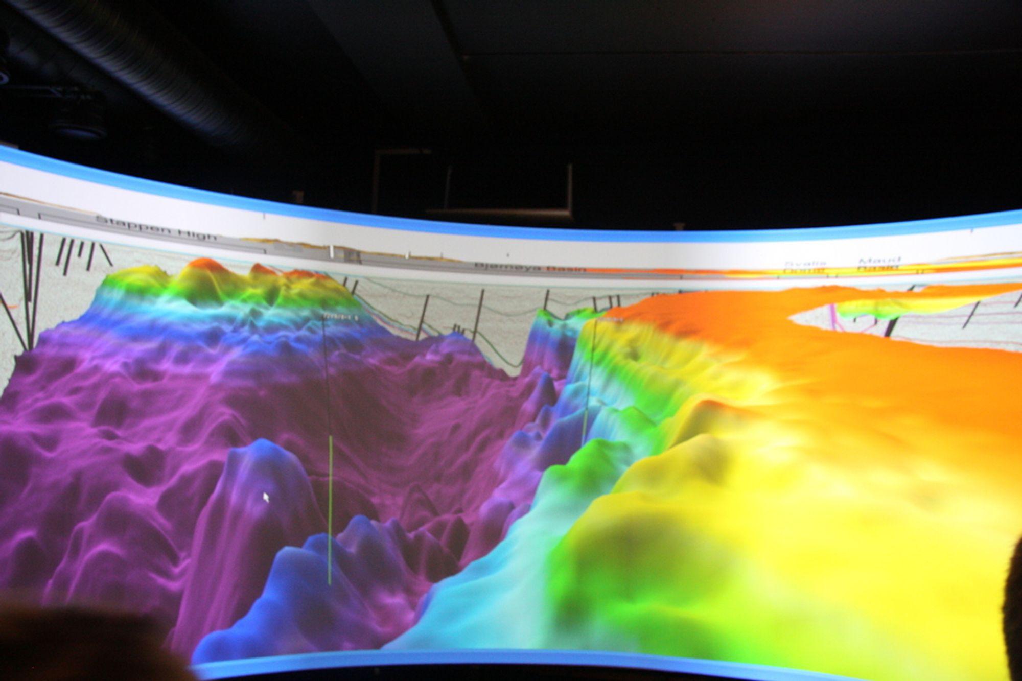 Havis-prospektet kan gi økte reserver til Skrugard-feltet. Her fra en presentasjon av Skrugard-funnet i 3D.