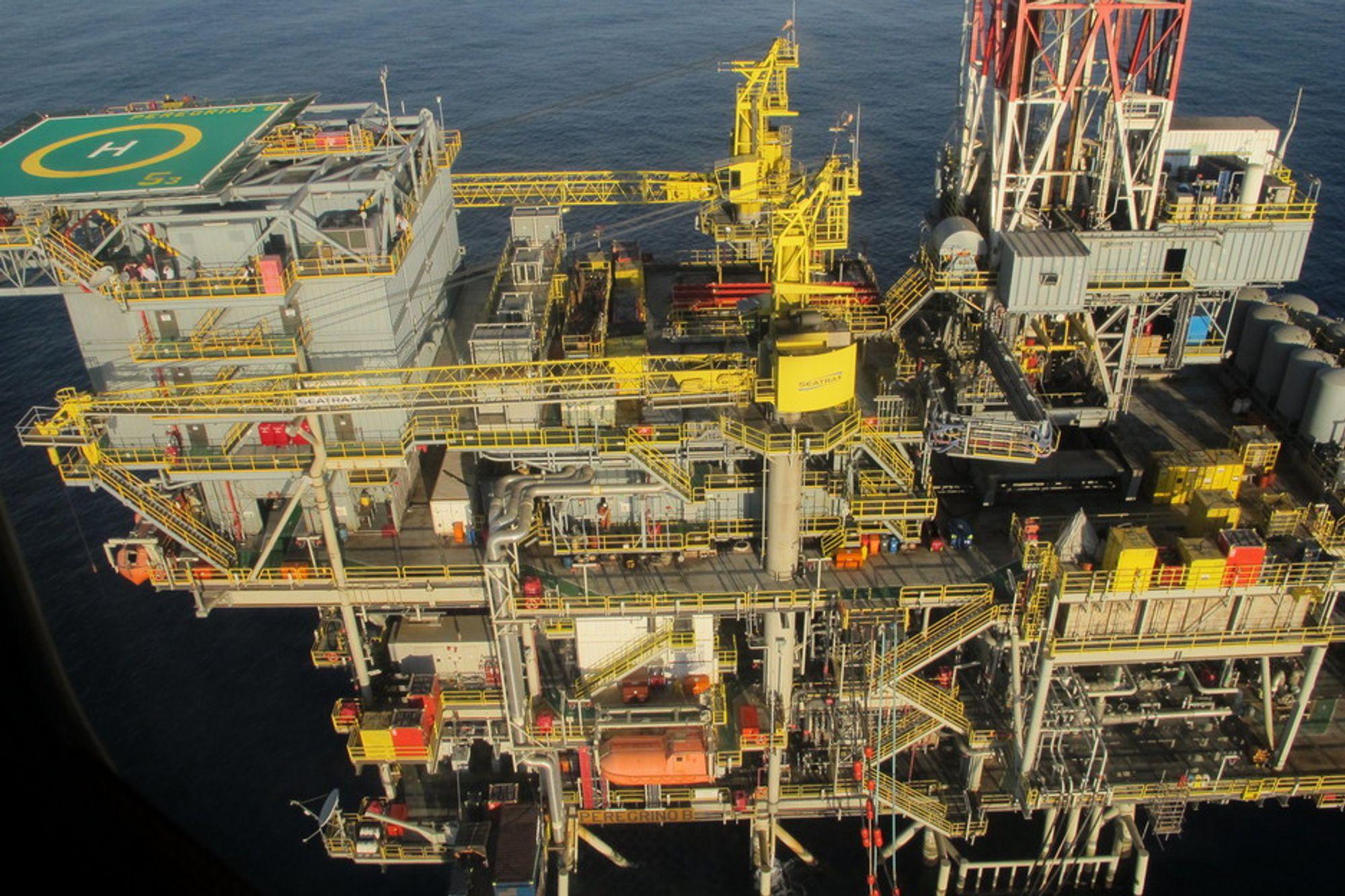 ETTERLYSER PLAN: Arild Nystad etterlyser en strategi for å sikre en norsk posisjon i Brasils oljeeventyr. Her fra Peregrino brønnhodeplattform B.