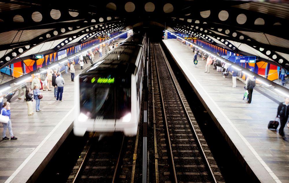 BETONG-TRØBBEL: Skanska utfører betongarbeid på en parsell mellom Stortinget (bildet) og Majorstuen stasjon. Men betongen herder ikke i henhold til planen.