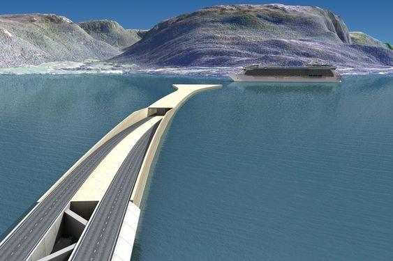 Nedkjørsel fra flytebro til rørbro