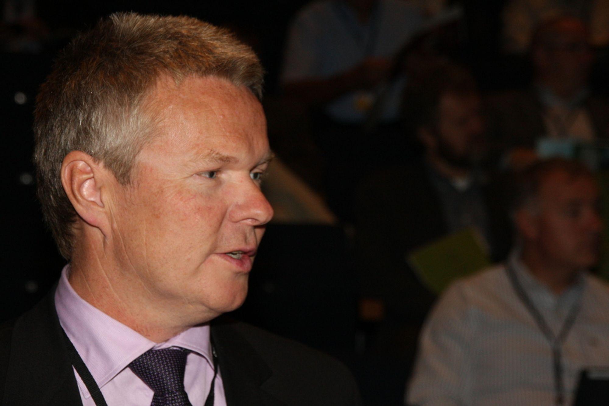 HJEM: Konsernsjef Terje Mjøs hentet 60 medarbeidere fra Ukraina til Oslo mens EDB Ergogroup avklarte sikkerhetsspørsmål rundt offshoring av banktjenester.
