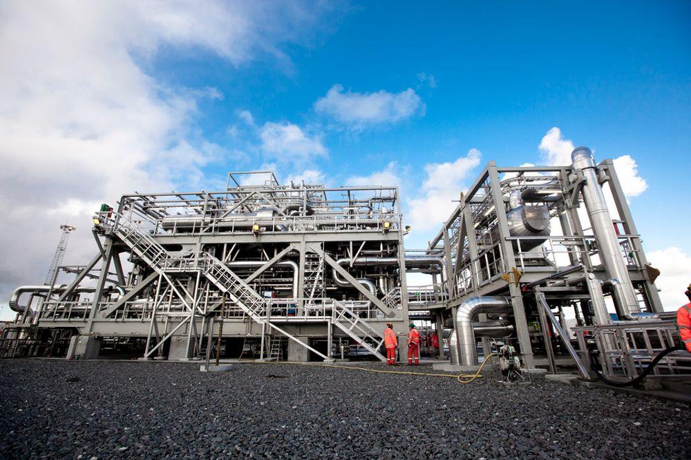 UTVIDER: Ormen Lange-anlegget på Nyhamna skal utvides og oppgraderes. Kværner  fikk milliardkontrakten med Shell.