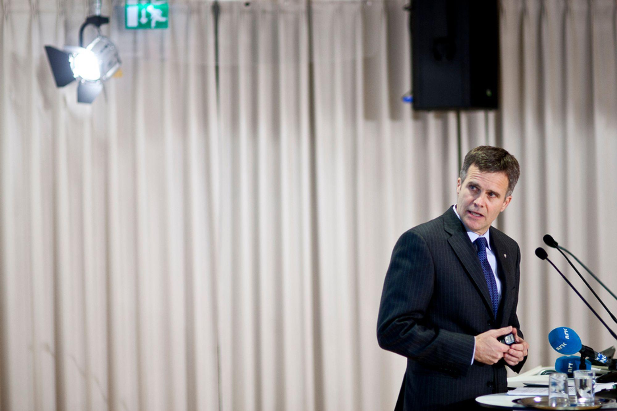 FORNØYD: Statoils konsernsjef Helge Lund er fornøyd med utviklingen i selskapet. Både høyere priser og økt produksjon gir solid vekst.