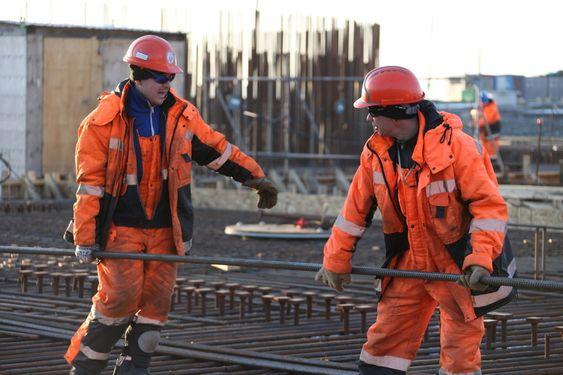 TUNGT: Det er 19.000 tonn armeringsstål i betongplattformen.