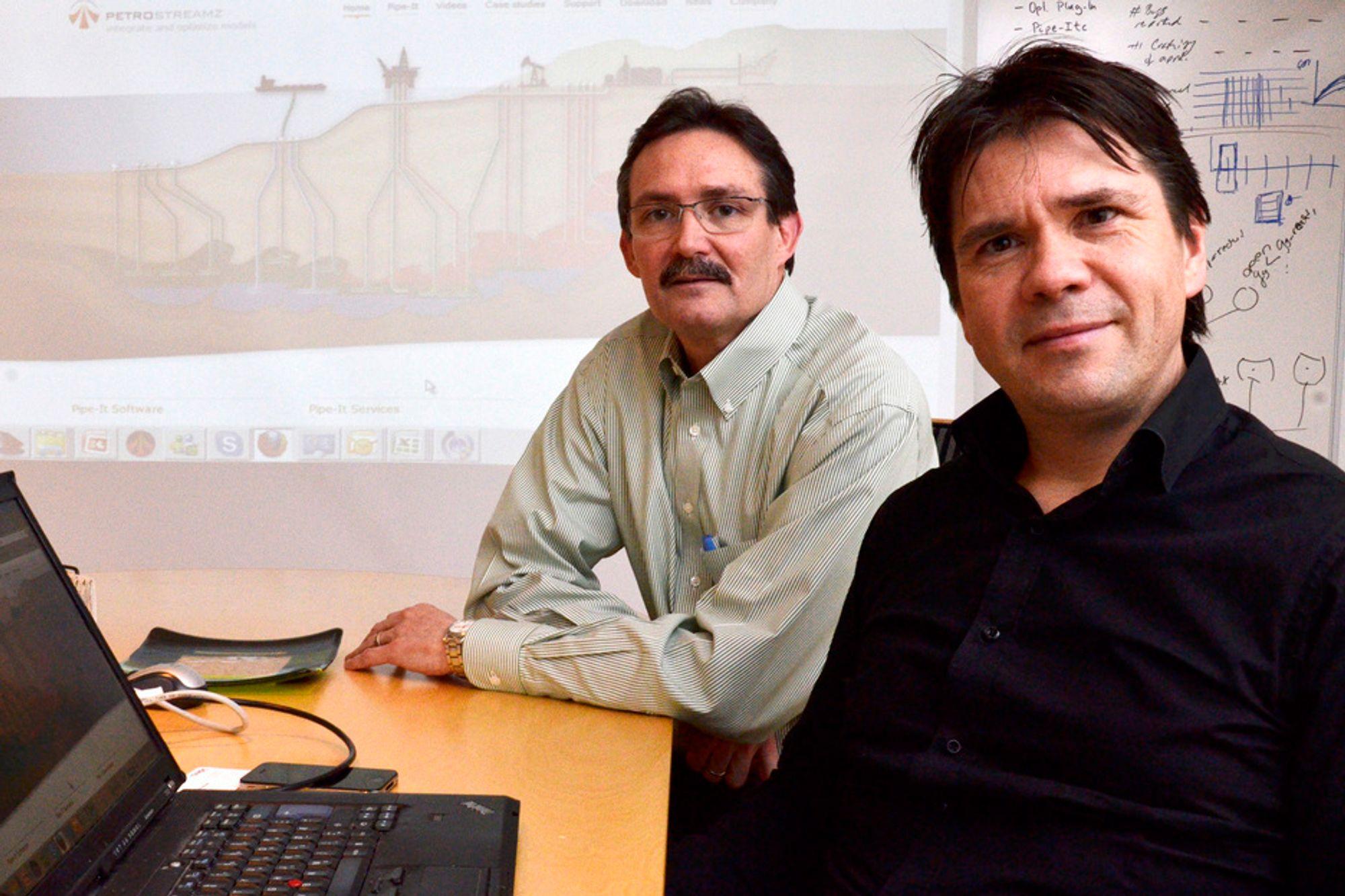 GRAFISK: - Sammenkoblingene i Pipe-it settes opp grafisk på et overordnet nivå. På denne måten er det mulig å finne ut den beste måten å eksekvere programmet på, forteller Jan Biti og Curtis H. Whitson.