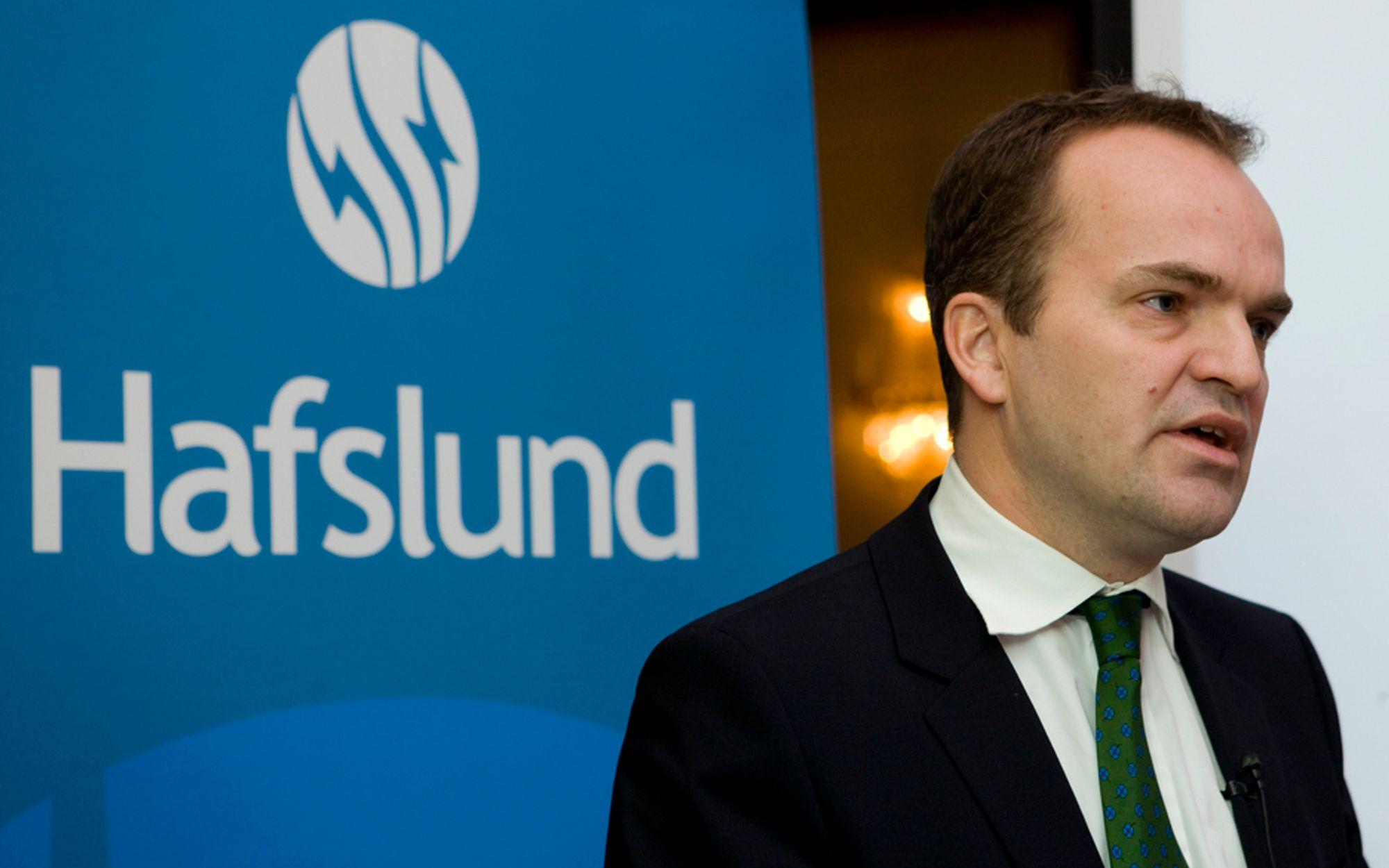 TØRT MARKED: Konsjernsjef i Hafslund, heleier av pelletsfabrikken på Averøy utenfor Kristiansund, er bekymret for lav etterspørsel i Europa.
