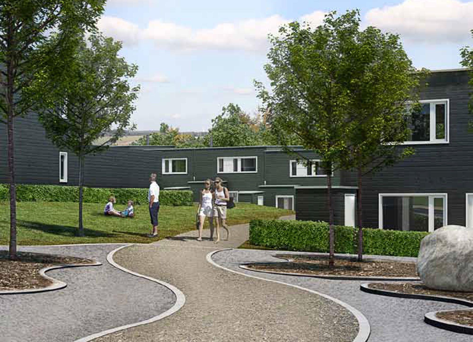 SKAL VARE LENGE: Skanska vil gi ti års reklamasjonsrett på nye boliger, som disse i Finstad Hageby rett utenfor Ski sentrum.