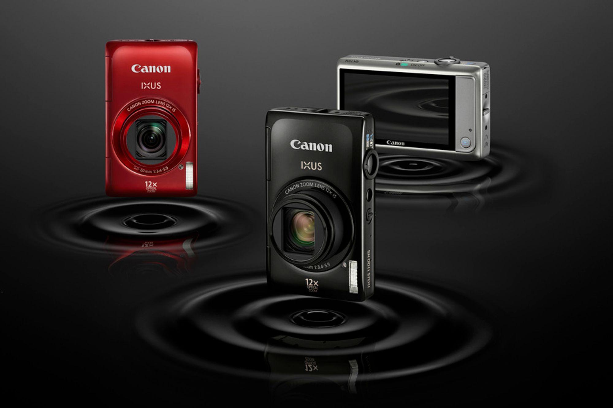 Canons nye IXUS 1100 HS har hele 3,2-tommers berøringsskjerm og 12 x zoom.