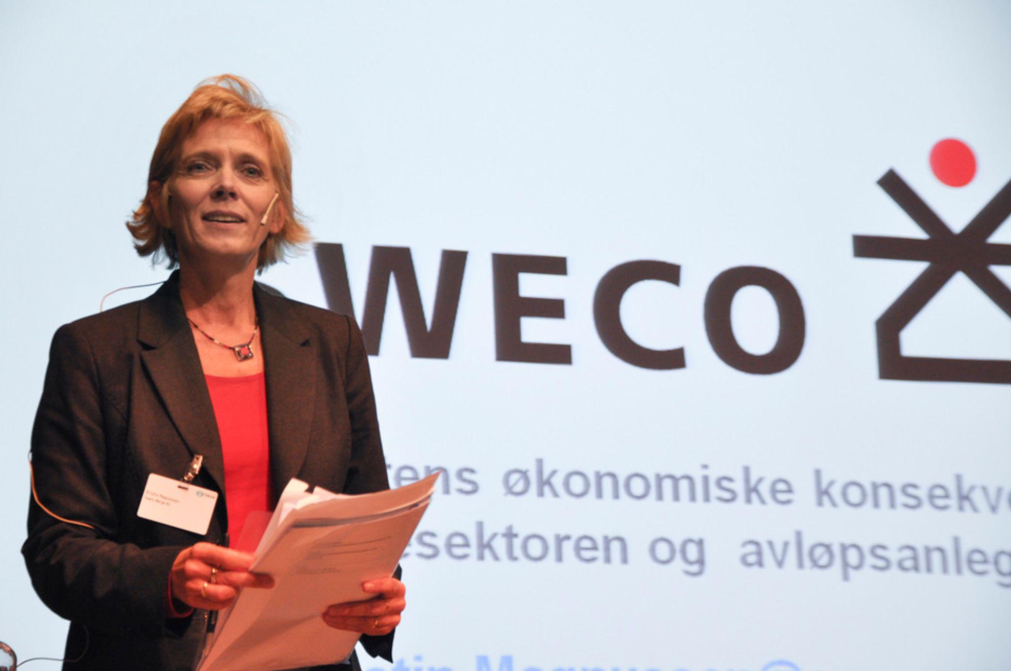 UKLART: Økonom Kristin Magnusson sier at ingen vet hvor mye det vil koste å implementere Vanndirektivet, men antyder 10-30 mrd.