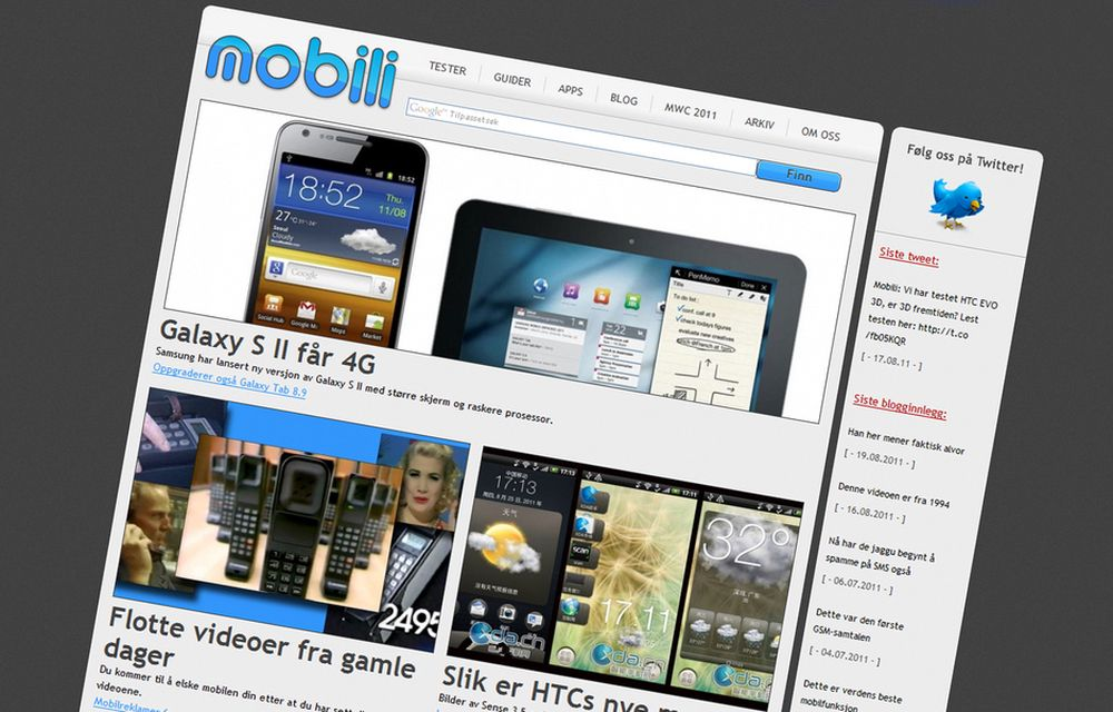 UTVIDER: Mobili.no skriver tester, guider og andre artikler om mobiltelefoner, nettbrett og mobilrelaterte tema. Nå har Teknisk Ukeblad Media kjøpt 60 prosent av selskapet Mobili Media.