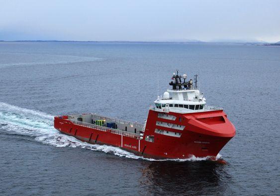 FØRSTE FOR DOF: Skandi Gamma er  DOF-rederiets første LNG-drevne forsyningsskip. Det 95 meter lange og 200 meter brede forsyningsskipet er bygget av STX Søviknes.