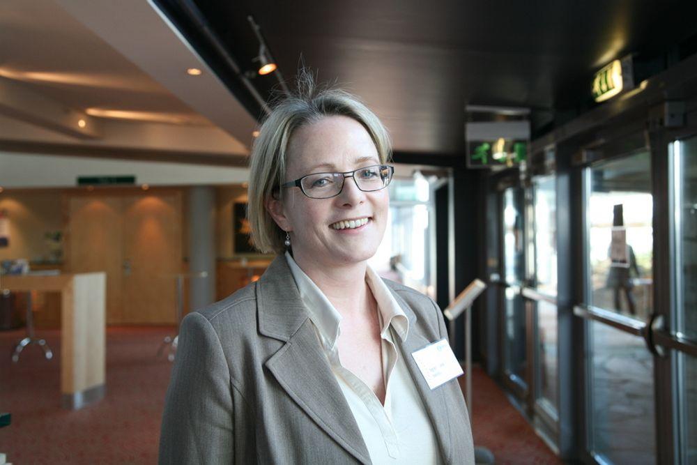 SMÅ FORSKJELLER: Ingrid di Valerio, Teknas hovedtillitsvalgt i Statoil, sier de har svært små lønnsforskjeller mellom kvinner og menn, basert på evaluering av lønnsforhandlinger og opprykk i karrierestigen.