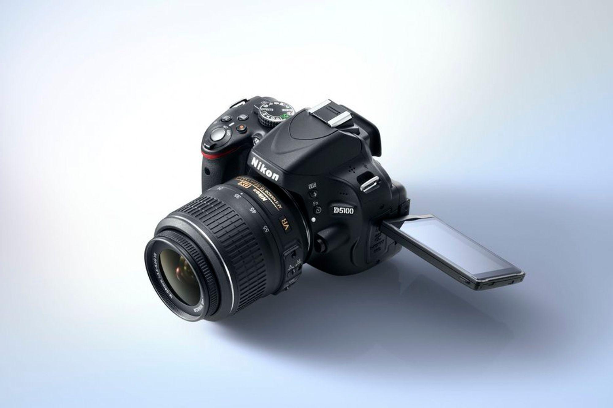 SKJERM: Nye Nikon D5100 har fått en veldig fleksibel søkeskjerm.
