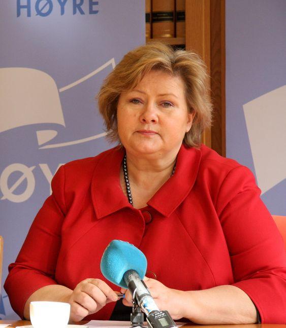 Erna Solberg, Høyre