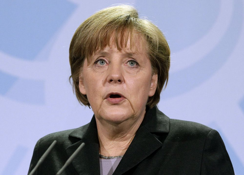 STENGER KRAFTVERK: Tyskland stenger midlertidig ned alle sine sju kjernekraftverk som ble åpnet før 1980, kunngjør Tysklands statsminister Angela Merkel.